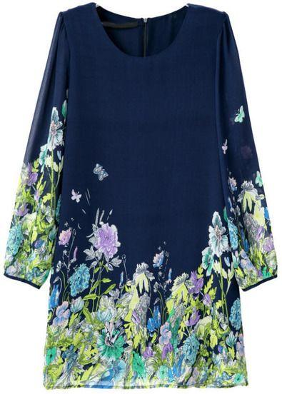 robe motif papillon et floral