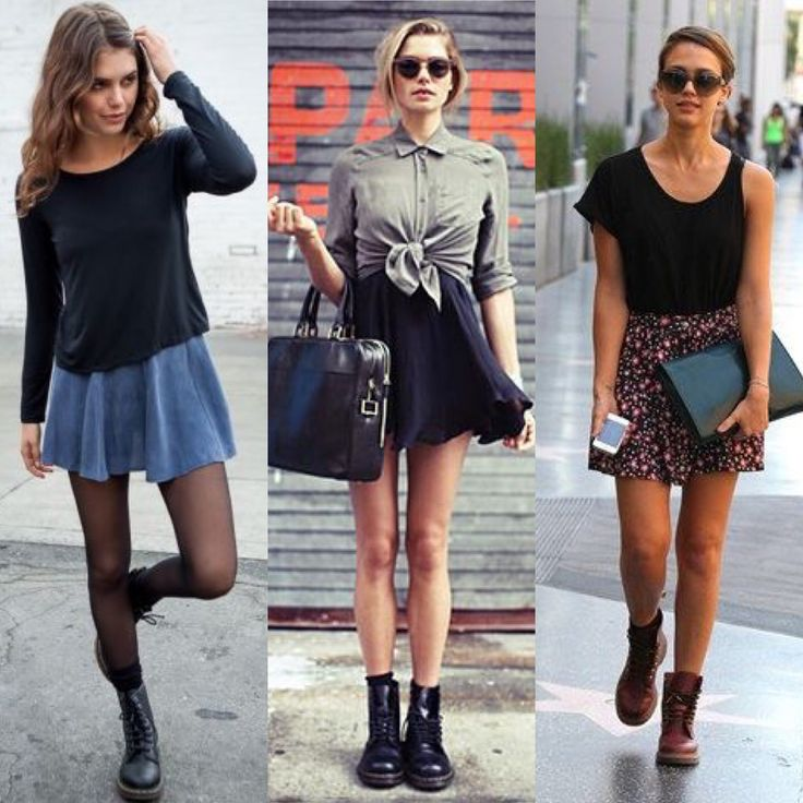 WITH A SHORT SKIRT And here is how to wear the Dr …