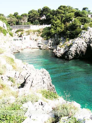 ITALIA - Posto Badisco, Salento (Puglia). Insenatura Naturale con spiaggia e mare calmo, vi sbarcò Enea.