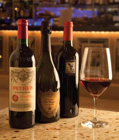 Try one of 5 exclusive Bordeauxs, a rare Cabernet, or a glass of Dom Perignon out of our state-of-the-art Enomatic wine dispenser