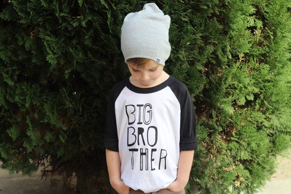 Big Brother Shirt - Three Quarter Sleeve Sketchy Big Bro Kids Shirt - Boys Clothing For Baby and Toddler - Kids Clothes Trendy Baseball Tee -
