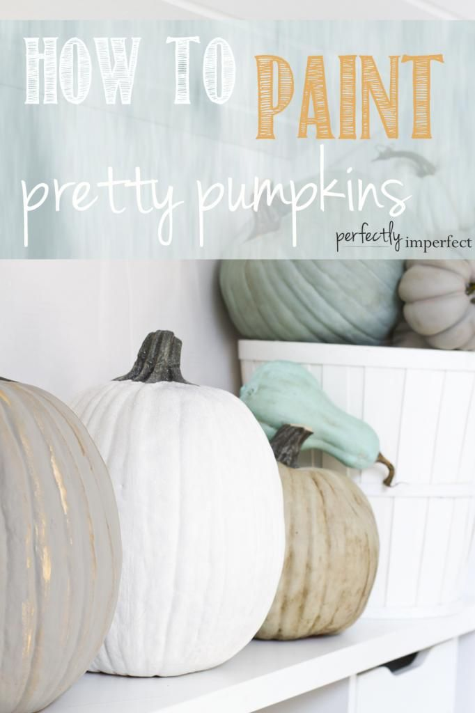 How to Paint Pretty Pumpkins using Annie Sloan Chalk Paint, waxes, craft paint and spray glitter | perfectly imperfect