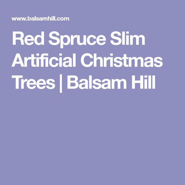 Red Spruce Slim Artificial Christmas Trees | Balsam Hill