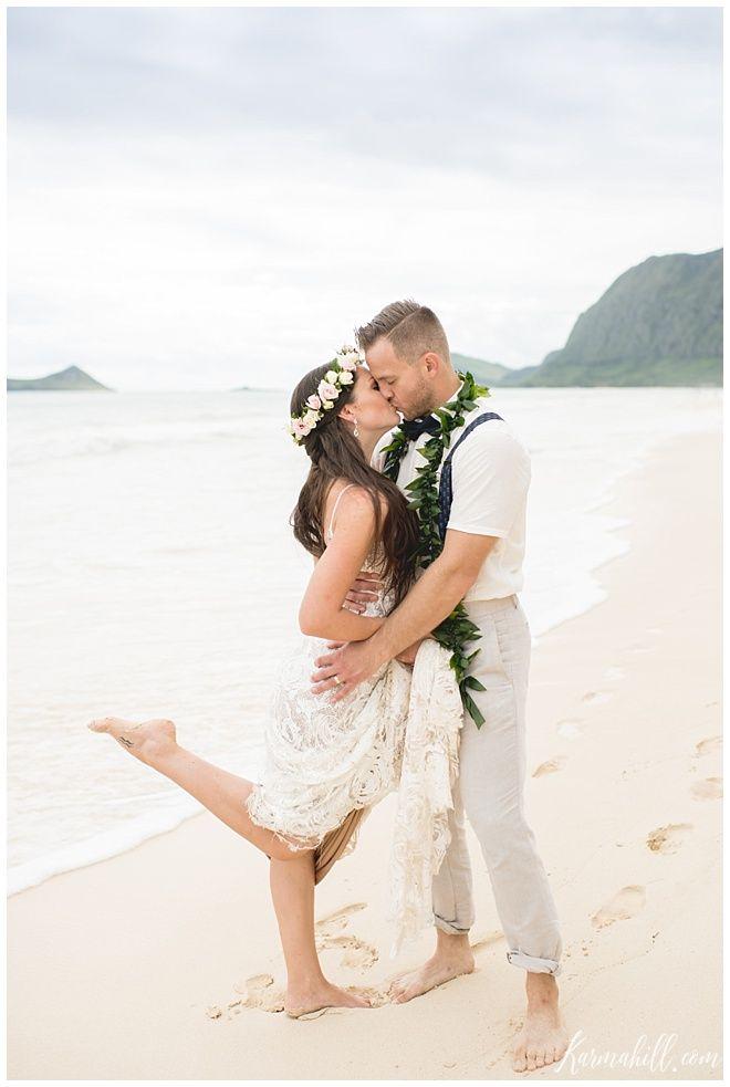 Hawaii Beach Wedding Dress Down