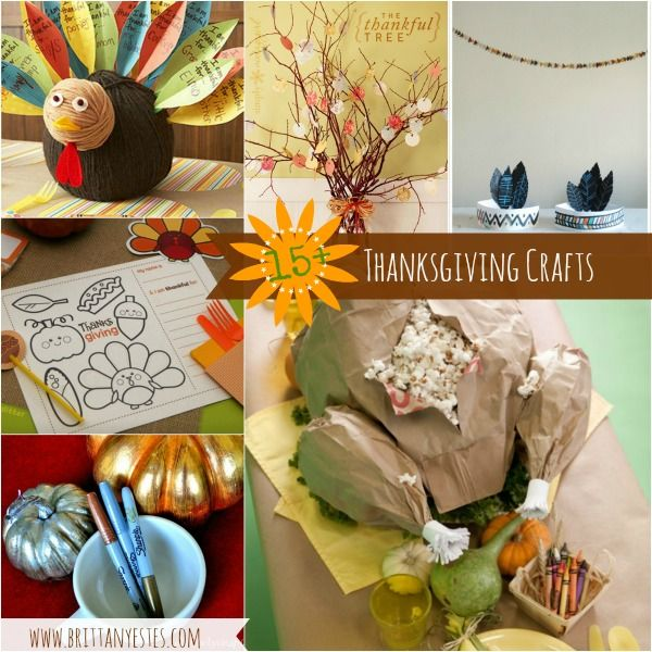 15 thanksgiving crafts craft ideas pinterest