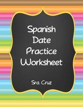 spanish worksheets and dates on pinterest. Black Bedroom Furniture Sets. Home Design Ideas