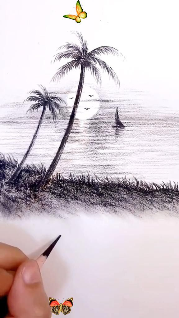 pencil drawings drawing sketches simple easy line amazing straight draw then another tiktok nature cool zeichnung malerei kunst zeichnungen dark