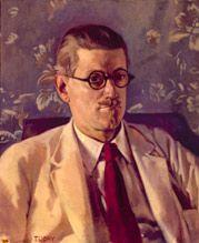 """James Joyce fue un escritor nacido el 2 de Febrero en Irlanda. Conta con una colección de libros llamada """"Dublineses"""" que incluyen dos lirbos de poesía, los cuales son """" Música de cámara"""" y """"Poemas manzanas."""" Él murió el 13 de Enero de 1941 en Zúrich."""