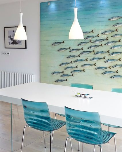 Modern under the Sea theme room decor: http://www.completely-coastal.com/2014/10/under-the-sea-rooms.html