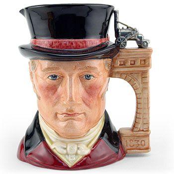 Royal Doulton Large Character Jug, George Stephenson D7093, Large