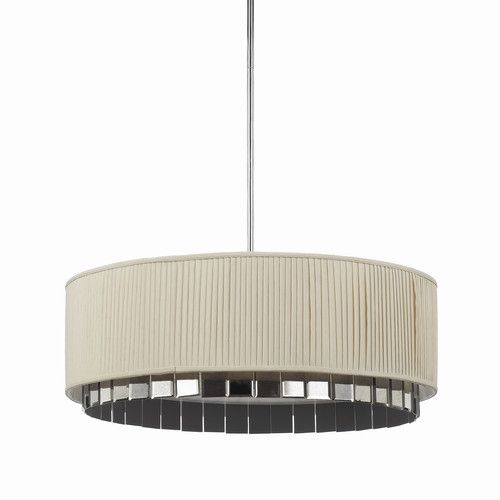 garbo 4 light drum pendant by candice olson for af lighting ivory pleated shade and