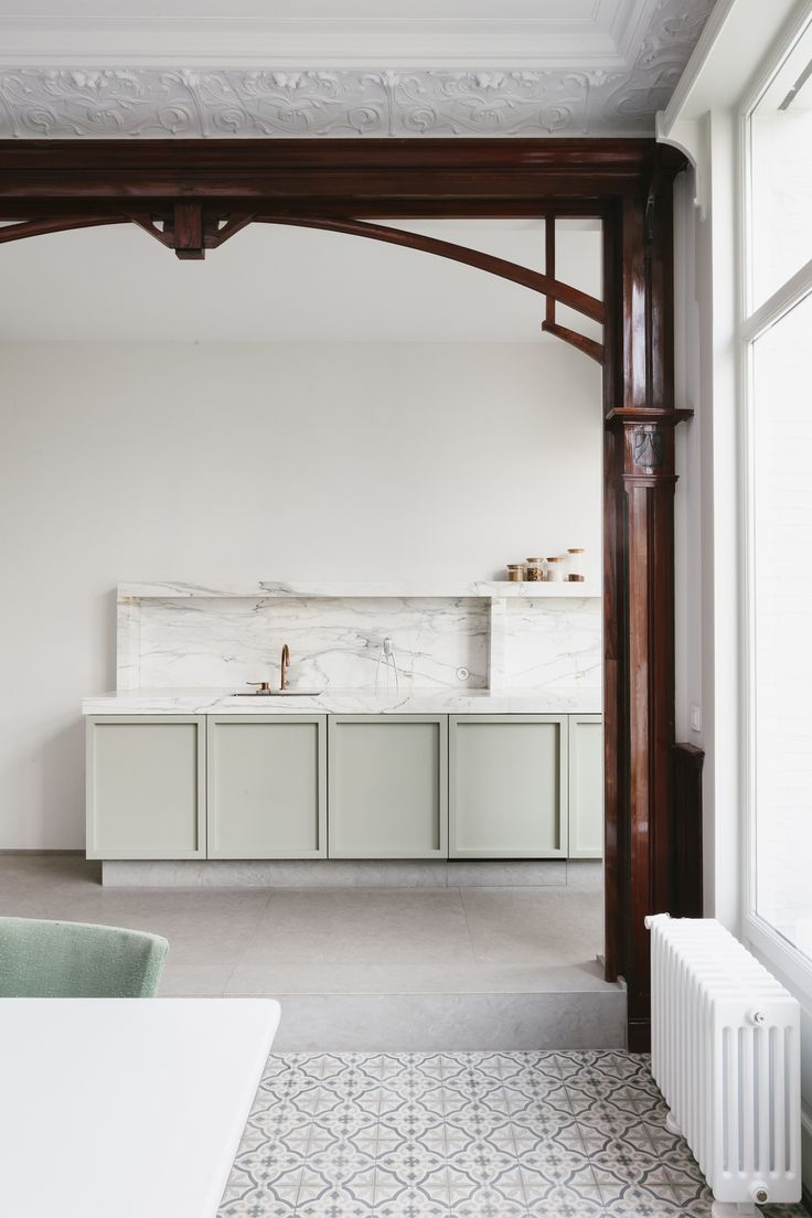 A Pale Mint Kitchen by Hans Verstuyft | Photography by Dorothee Dubois