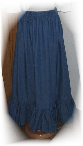 Ladies Patterns ~ Modest & Simple Sewing Patterns by The King's Daughters- Ladies Ruffle Skirt
