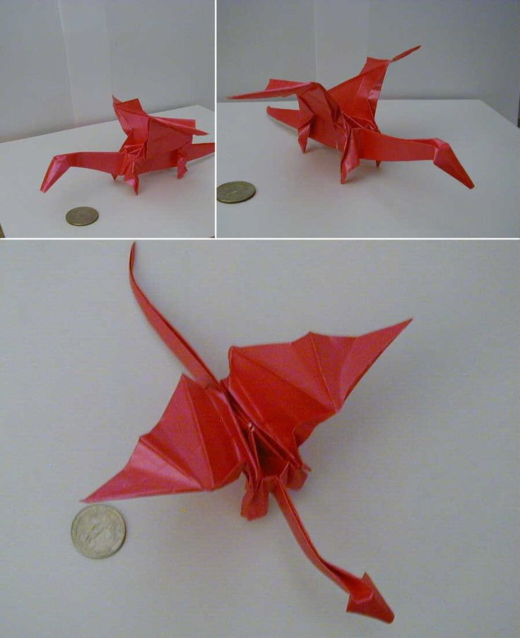 origami instructions dragon step by step paper