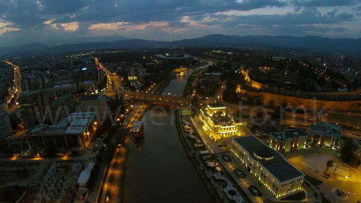 Skopje, Republic of Macedonia 2 Night image of the center of Skopje and 1 daytime picture      City : Skopje     Street : 41.998024, 21.431604     County or State : Macedonia     Country : Macedonia(The Former Yugoslav Republic Of)  Drone : DJI Phantom 2 Vision