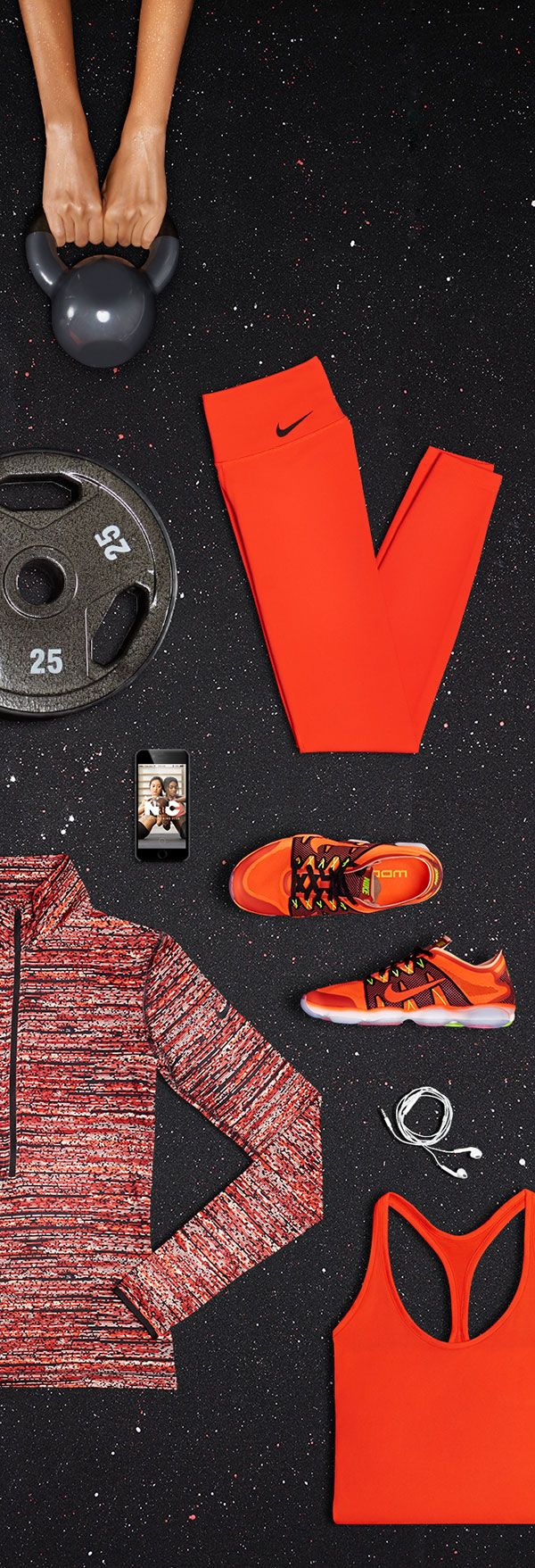 Tops and tights to keep you cool and dry, and a high-energy gym playlist to distract you from all those burpees. Get strong with the Nike Stronger-Than-Steel Fit Kit.