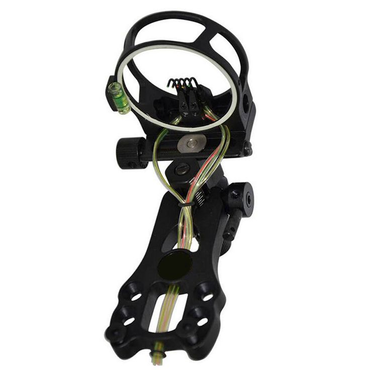 """Archery Extreme Tactical Compound Bow Sight Bow Sight with Peephole and Light 5-Pin 0.019"""" Micro Adjust Tool"""