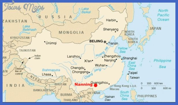 cool Nanning Map Tourist Attractions