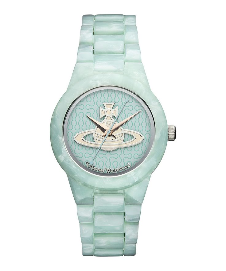 Kew@ mint blue sporty watch by Vivienne Westwood on secretsales.com