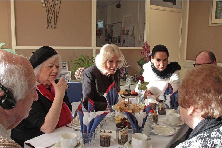 La duchesse de Cornouailles Camilla au Centre des survivants de l'Holocauste à Londres, le 23 février 2016