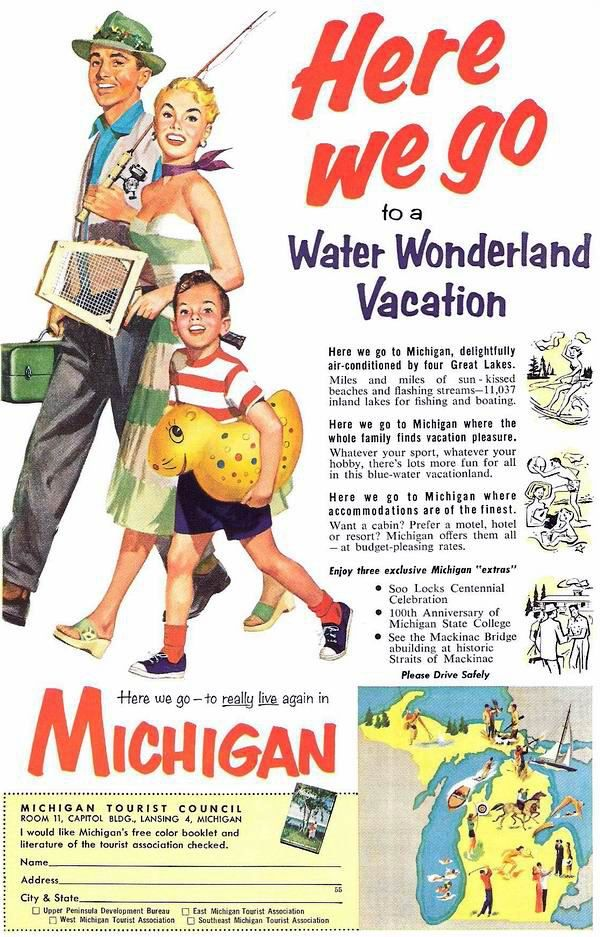 Vintage MICHIGAN. I have another from this campaign on the bathroom wall of my lake cottage.