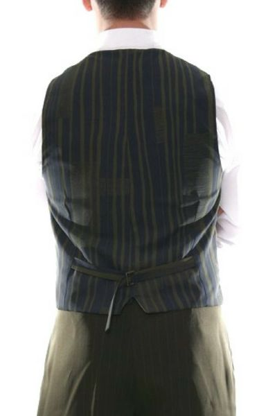 Men's tango vest in olive green with satin back  #tangovest #menstangoclothes #argentinetango