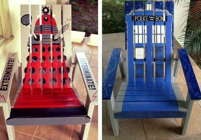 These are some cool #DoctorWho chairs!