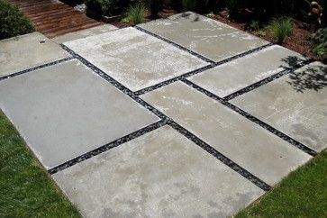 pavers and pebbels patio | Concrete Paver Patios Design Ideas, Pictures, Remodel, and Decor