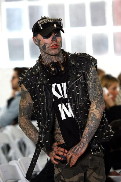 Rick Genest in Duckie Brown - Runway - Fall 2012 Mercedes-Benz Fashion Week