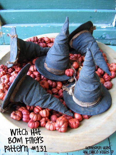 Witch Hat Bowl Fillers, by Homespun Hugs and Calico Kisses