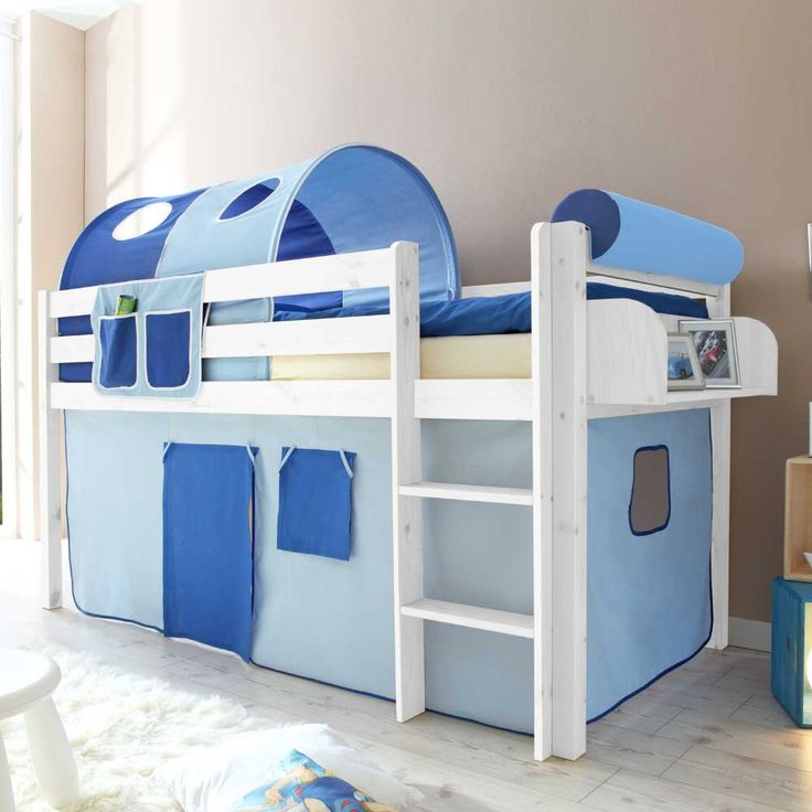 Superb Kinderhochbett mit Tunnel in Blau halbhoch Jetzt bestellen unter https moebel ladendirekt de kinderzimmer betten hochbetten uid udbadbd ab bd
