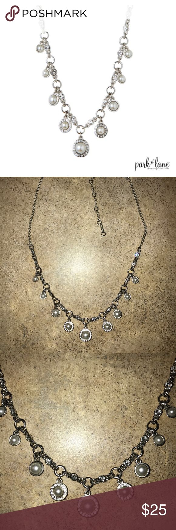 """""""Admire"""" pearl drop necklace by Park Lane Admire multi pearl drop necklace by Park Lane. Lustrous glass pearls, crystal pendants and charms dangle from the chain necklace. Park Lane Jewelry Necklaces"""