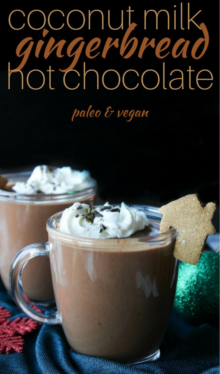 Gingerbread Vegan Hot Chocolate | thick, velvety and sure to satisfy those seasonal cravings. Dairy, refined sugar & gluten free.