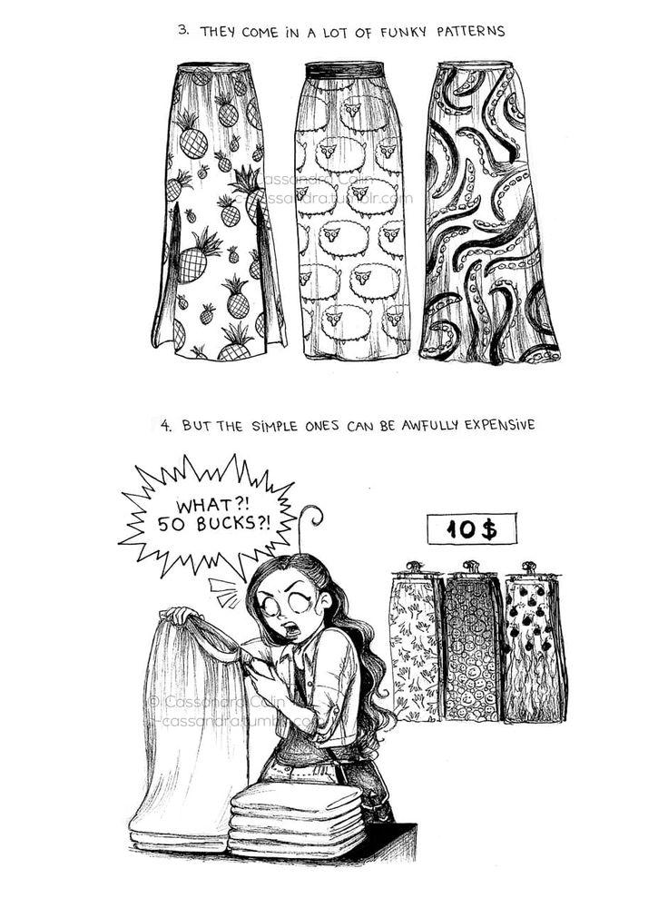 C. Cassandra comics :: 9 Truths: Maxi Skirts   Tapastic Comics - image 2