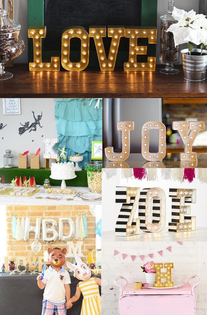 マーキーライト A~T アルファベット ブロック ライト 照明 インテリア パーティー装飾に American Crafts