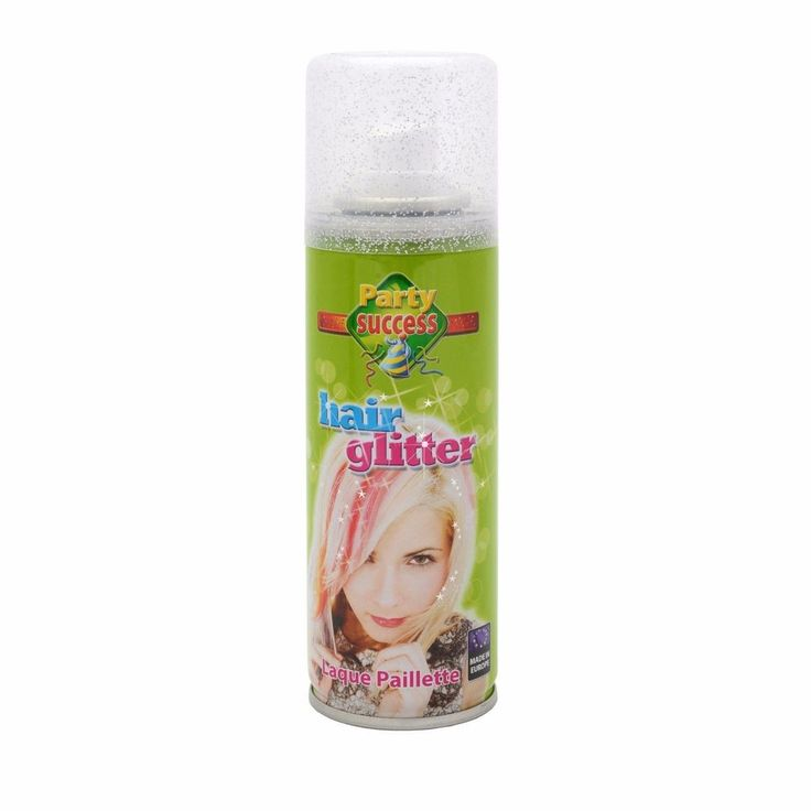 Wash Out Silver Glitter Temporary Hair Coloured Party Sprays