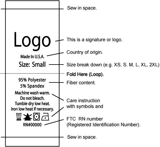 this is a signature or logo country of origin size break