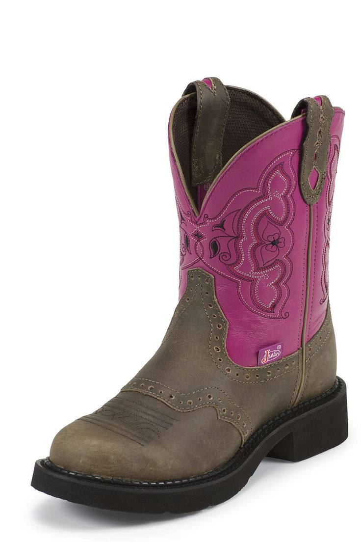 justins Boots | Justin Gypsy Pink Castle Brown Cowhide Cowgirl Boot