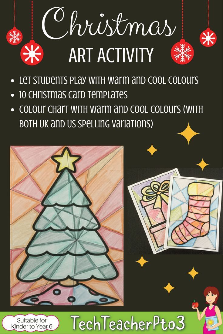 Super Easy Christmas Card Activity For Students Of All Ages And Year Levels To Do Perfect Christmas Art Art Activities Elementary Special Education Activities