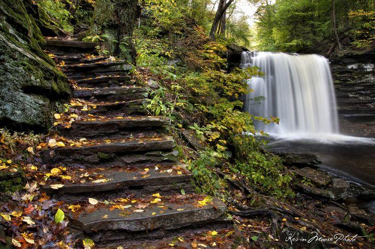 Rickett's Glen State Park in Pennsylvania.