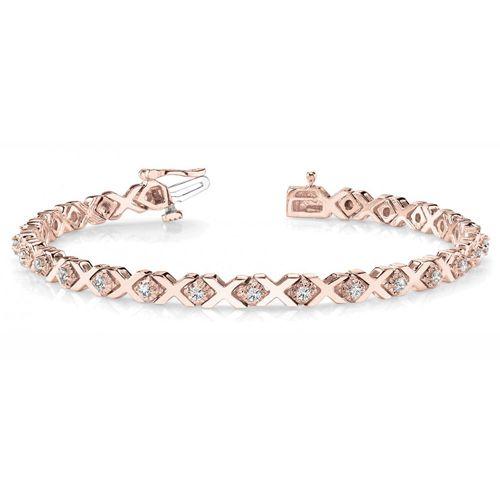 Diamant Armband 1.00 Karat Brillanten, 585 Rosegold