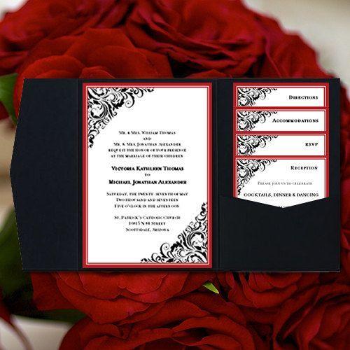 best 25+ red wedding invitations ideas on pinterest | red burgundy, Wedding invitations