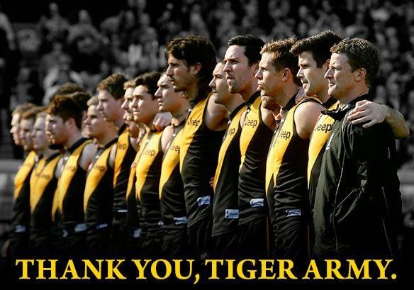 Thank you from Richmond FC for supporting The Mighty Tigers in 2013. Yellow & Black always & forever!!