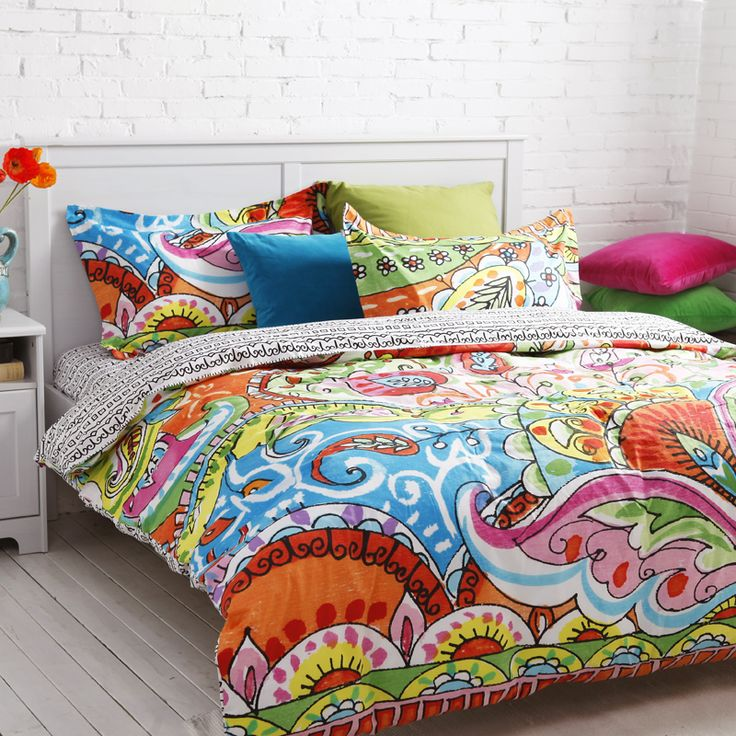 colorful duvet covers queen