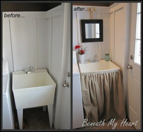 I am doing this to my laundry room sink!!