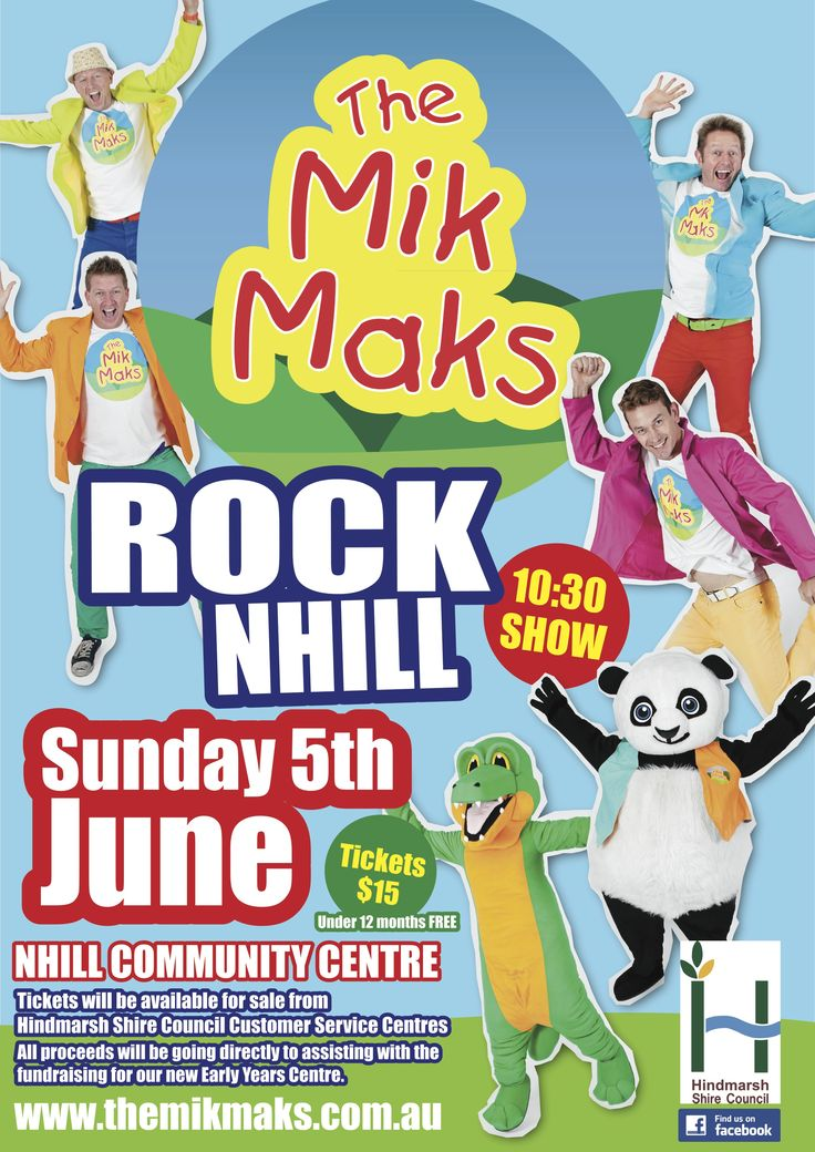 Sun 5th June: The Mik Maks in Nhill.. Go to www.themikmaks.com.au for further info!!