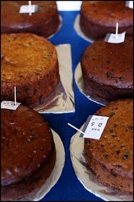 CWA rich dark fruit cakes being judged • country women's association
