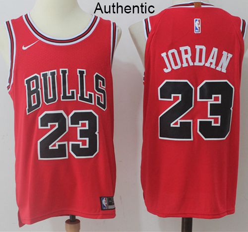 innovative design d94ff d1428 Nike Bulls #23 Michael Jordan Red NBA Authentic Icon Edition ...