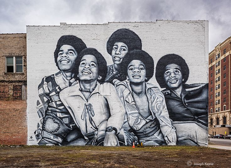 549 best art images on pinterest animation animated for Jackson 5 mural gary indiana