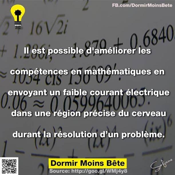 Il est possible d'améliorer les compétences en mathématiques en envoyant un faible courant électrique dans une région précise du cerveau durant la résolution d'un problème.